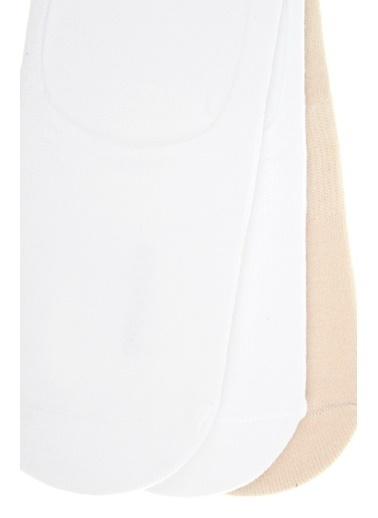 Divarese Divarese 5021851 3'Lü Kadın Pamuklu Çorap Seti Beyaz